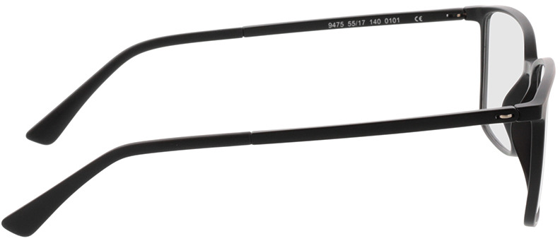 Picture of glasses model Elvas-matt schwarz in angle 90