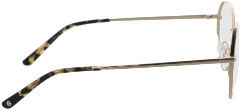 Picture of glasses model Comma, 70124 80 gold/black 51-18 in angle 90
