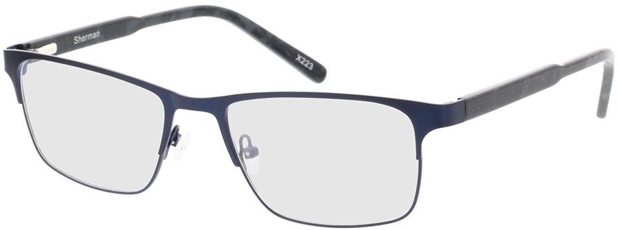 Picture of glasses model Sherman-blau/grau-meliert in angle 330