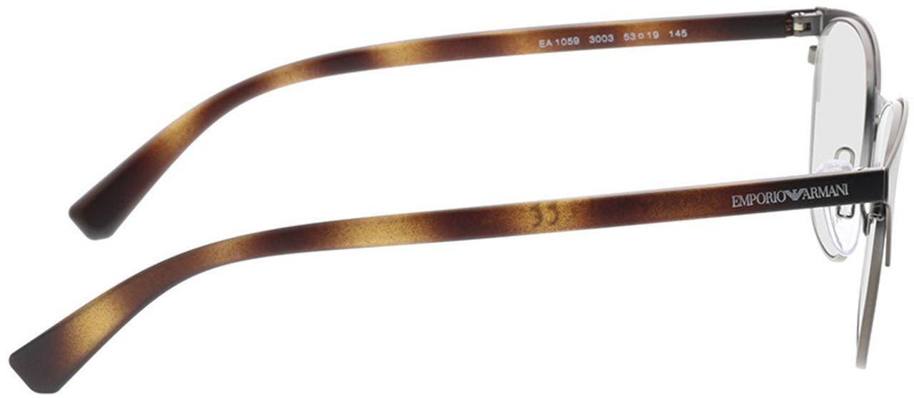 Picture of glasses model Emporio Armani EA1059 3003 53-19 in angle 90