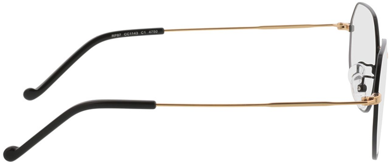 Picture of glasses model Lennox-schwarz/gold in angle 90
