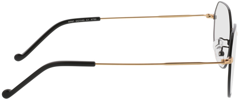 Picture of glasses model Lennox black/gold in angle 90