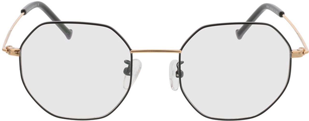 Picture of glasses model Lennox-schwarz/gold in angle 0