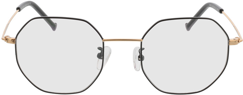 Picture of glasses model Lennox black/gold in angle 0