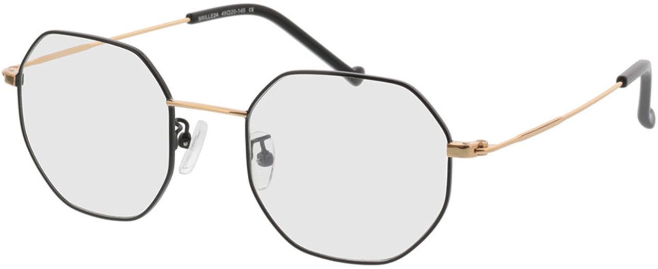 Picture of glasses model Lennox-schwarz/gold in angle 330