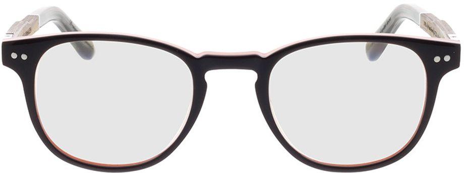 Picture of glasses model Wood Fellas Optical Bogenhausen Premium walnut/brown lila 47-21 in angle 0