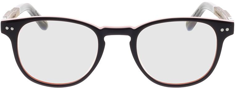 Picture of glasses model Wood Fellas Optical Bogenhausen Premium walnut/bruin lila 47-21 in angle 0