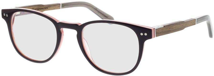 Picture of glasses model Wood Fellas Optical Bogenhausen Premium walnut/bruin lila 47-21 in angle 330