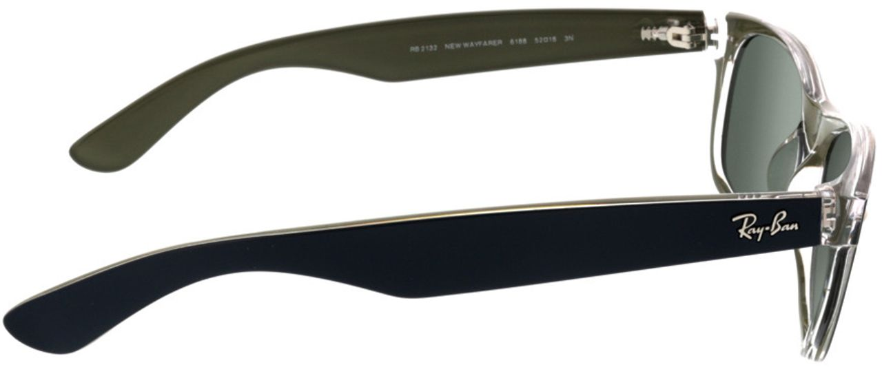 Picture of glasses model Ray-Ban New Wayfarer RB2132 6188 52-18 in angle 90