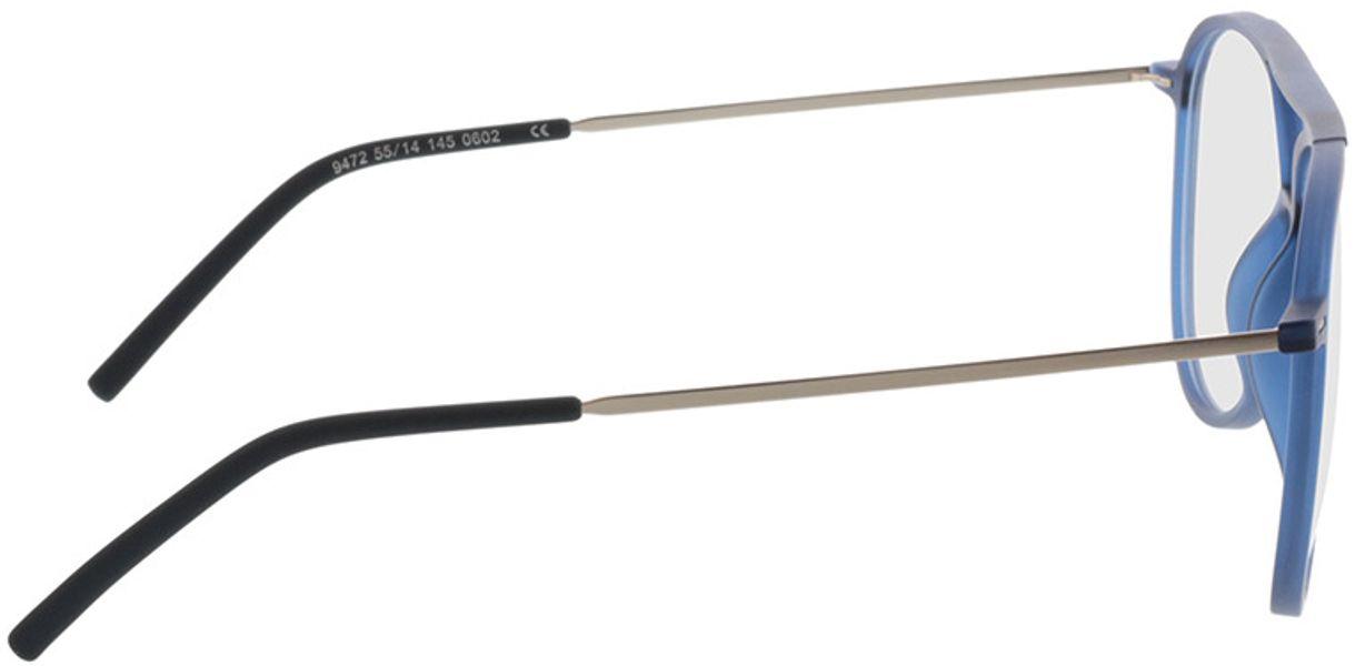 Picture of glasses model Salo-matt blau/silber in angle 90