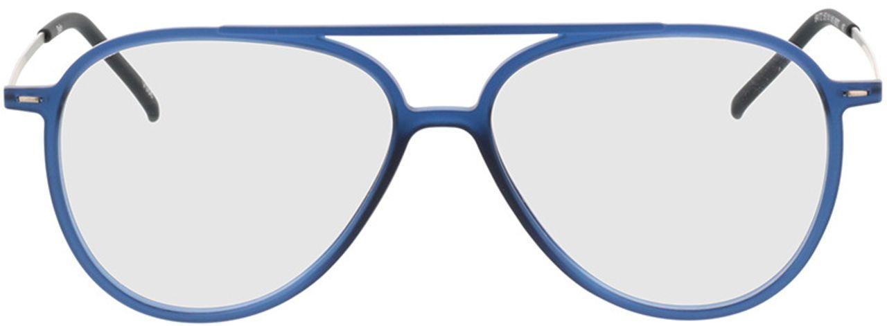 Picture of glasses model Salo-matt blau/silber in angle 0