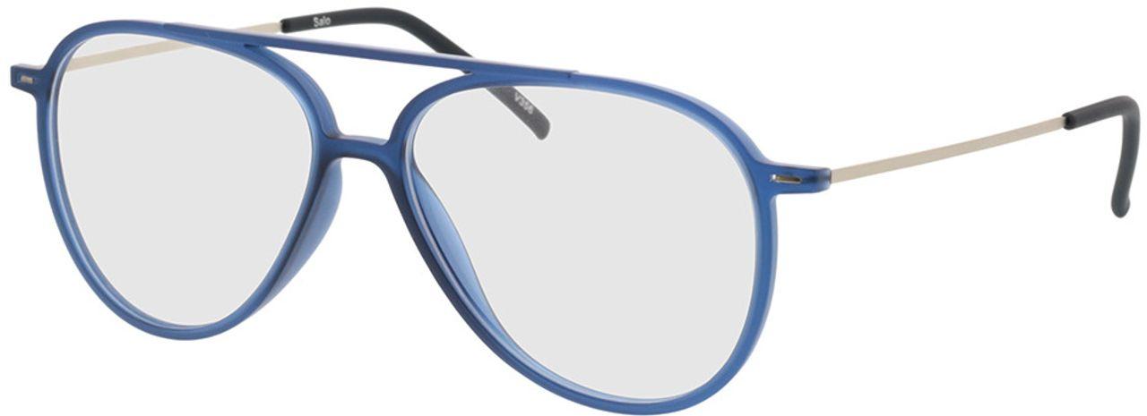 Picture of glasses model Salo-matt blau/silber in angle 330