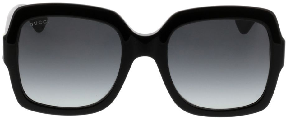 Picture of glasses model Gucci GG0036S-001 54-22 in angle 0