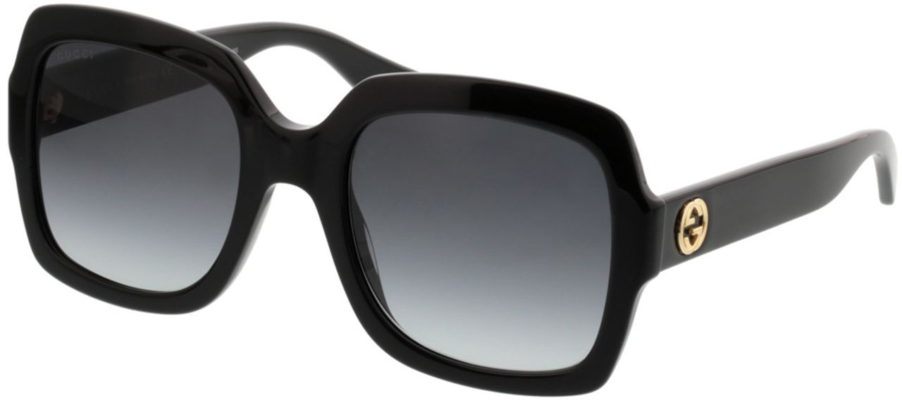 Picture of glasses model Gucci GG0036S-001 54-22 in angle 330