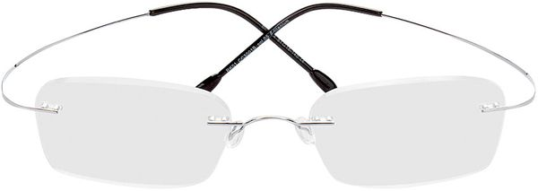 Picture of glasses model Mackay-silver in angle 0
