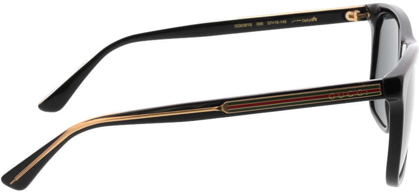 Picture of glasses model Gucci GG0381S-006 57-18 in angle 90