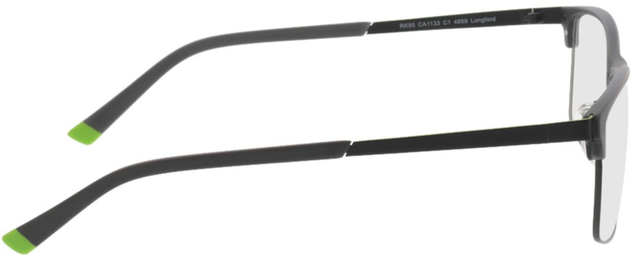 Picture of glasses model Longford-black in angle 90
