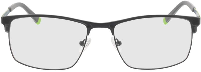 Picture of glasses model Longford zwart in angle 0