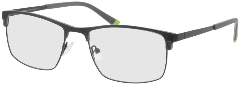 Picture of glasses model Longford zwart in angle 330