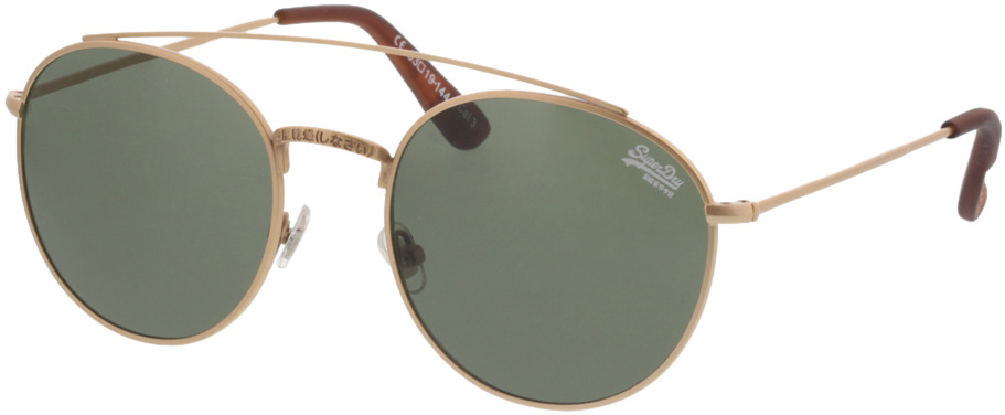 Picture of glasses model Superdry SDS Indianna 001 matte gold/amber 53-19 in angle 330
