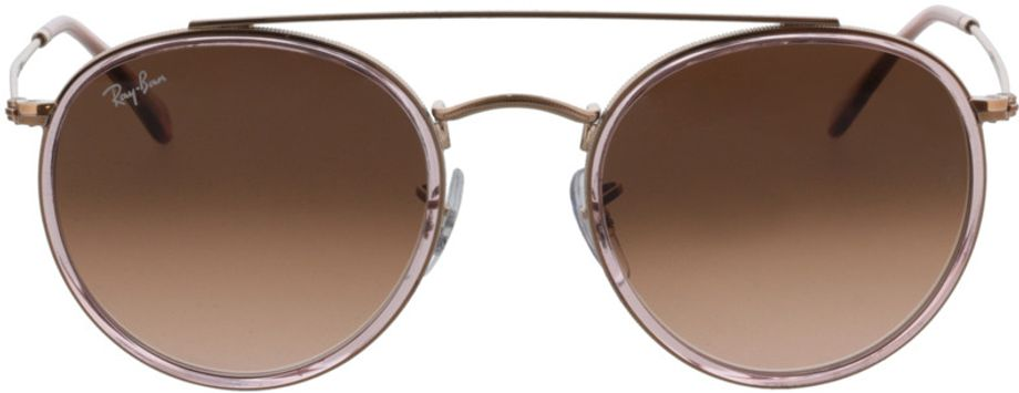 Picture of glasses model Ray-Ban Round Double Bridge RB3647N 9069A5 51-22 in angle 0