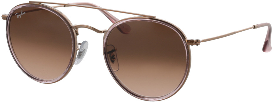 Picture of glasses model Ray-Ban Round Double Bridge RB3647N 9069A5 51-22