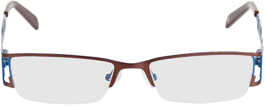Picture of glasses model Matola bruin/blauw in angle 0
