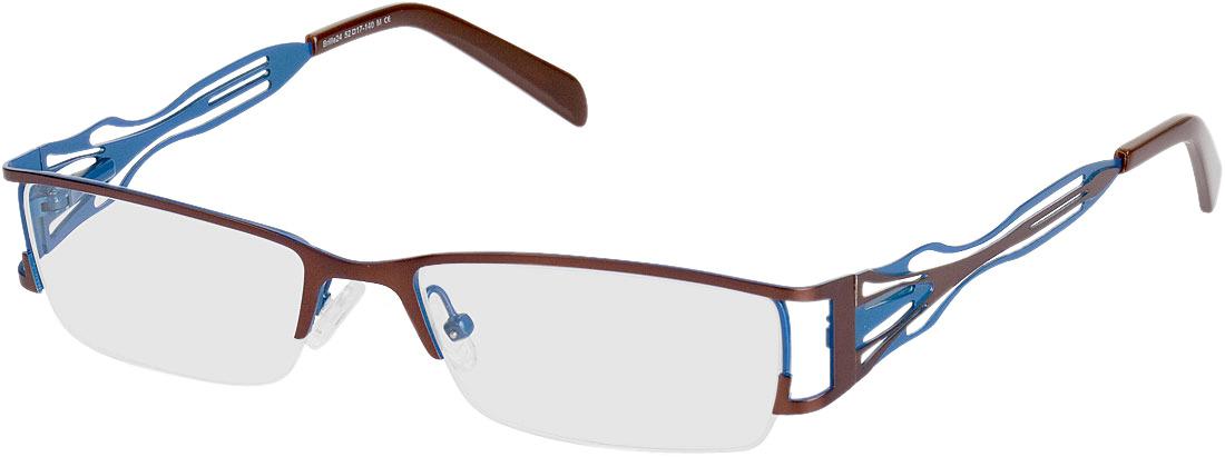 Picture of glasses model Matola bruin/blauw in angle 330
