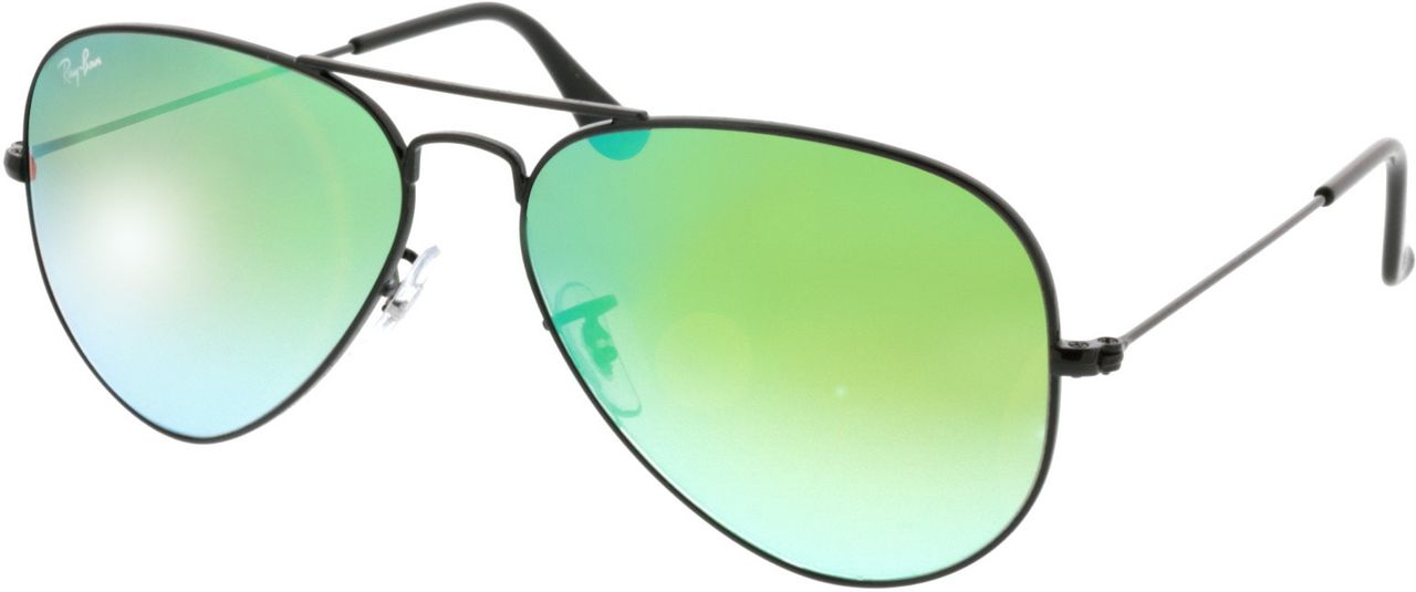 Picture of glasses model Ray-Ban Aviator RB3025 002/4J 58-14 in angle 330