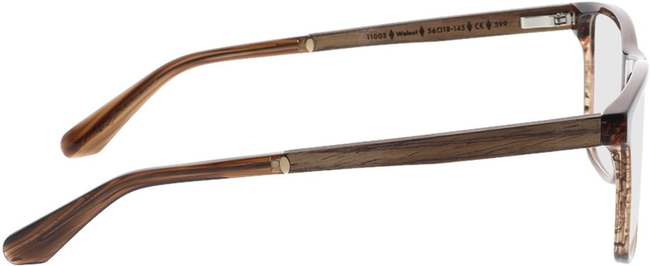Picture of glasses model Wood Fellas Optical Wildenwart walnut/crystal brw 56-18 in angle 90