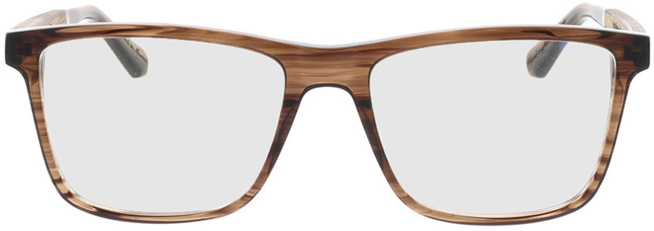 Picture of glasses model Wood Fellas Optical Wildenwart walnut/crystal brw 56-18 in angle 0