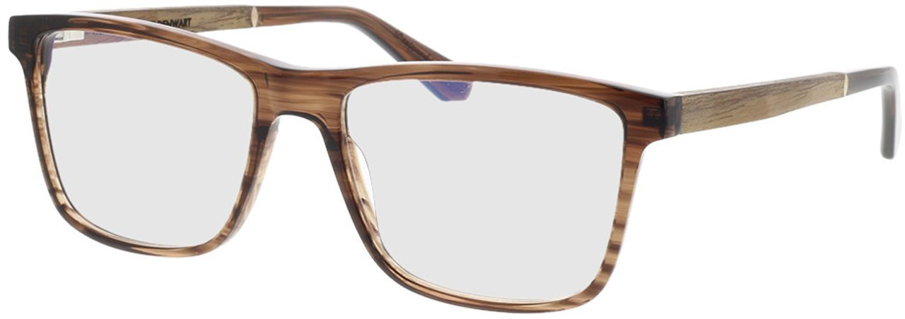 Picture of glasses model Wood Fellas Optical Wildenwart walnut/crystal brw 56-18 in angle 330