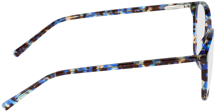 Picture of glasses model Los Angeles-noir/bleu-marbré in angle 90