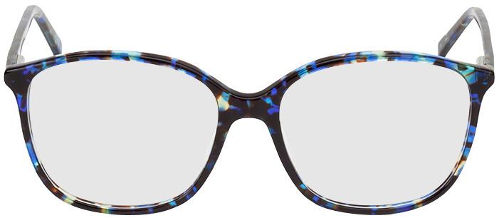 Picture of glasses model Los Angeles-noir/bleu-marbré in angle 0