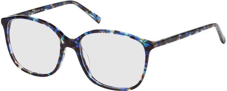 Picture of glasses model Los Angeles-noir/bleu-marbré in angle 330