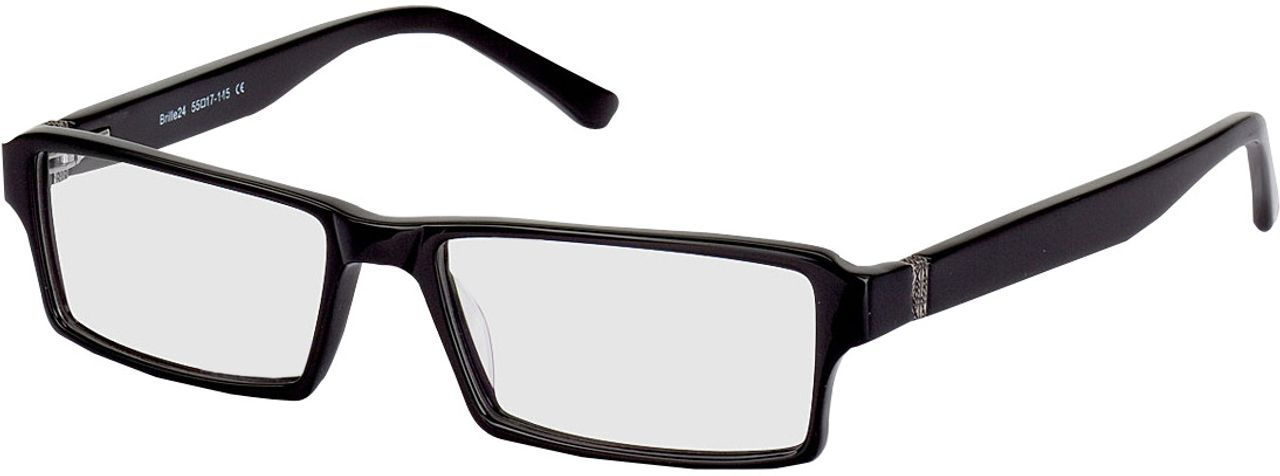 Picture of glasses model Tartus-schwarz in angle 330