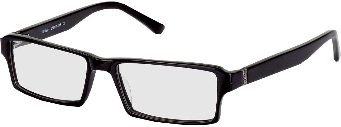 Picture of glasses model Tartus zwart in angle 330