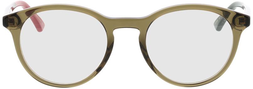 Picture of glasses model Gucci GG0406O-005 50-21 in angle 0