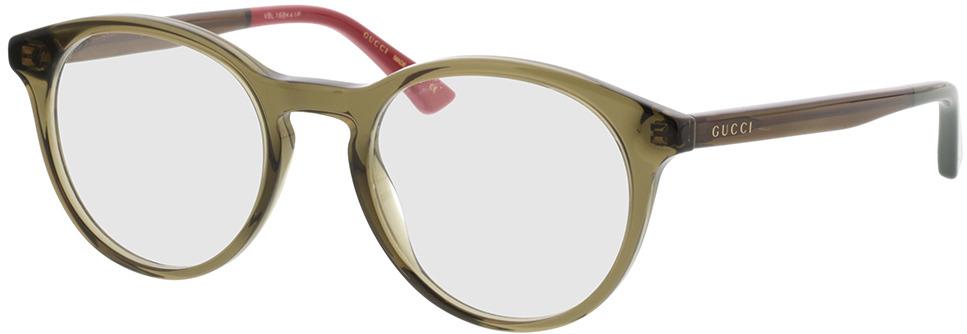 Picture of glasses model Gucci GG0406O-005 50-21 in angle 330