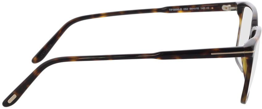 Picture of glasses model Tom Ford FT5696-B 052 54-16 in angle 90