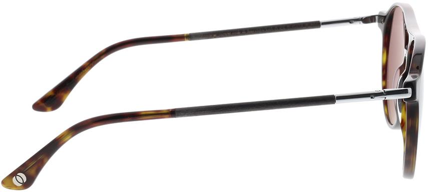 Picture of glasses model Wood Fellas Sunglasses Burgau noir chêne/havana 56-16 in angle 90
