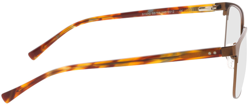 Picture of glasses model Viviano-braun/braun-meliert in angle 90