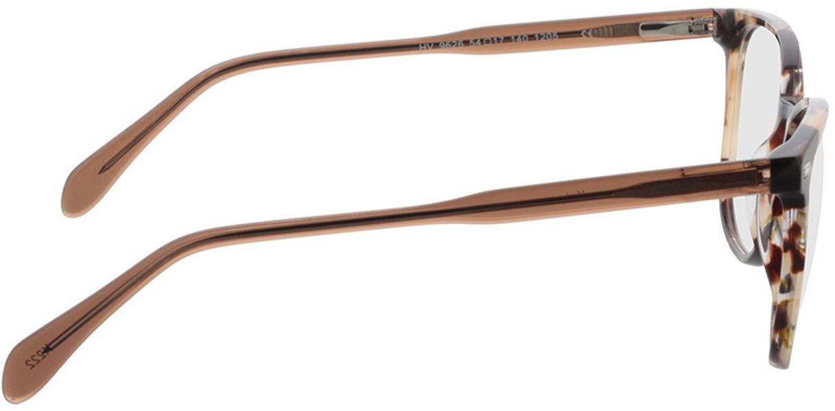Picture of glasses model Katy-braun-meliert in angle 90