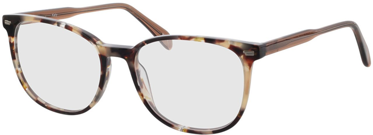 Picture of glasses model Katy-braun-meliert in angle 330