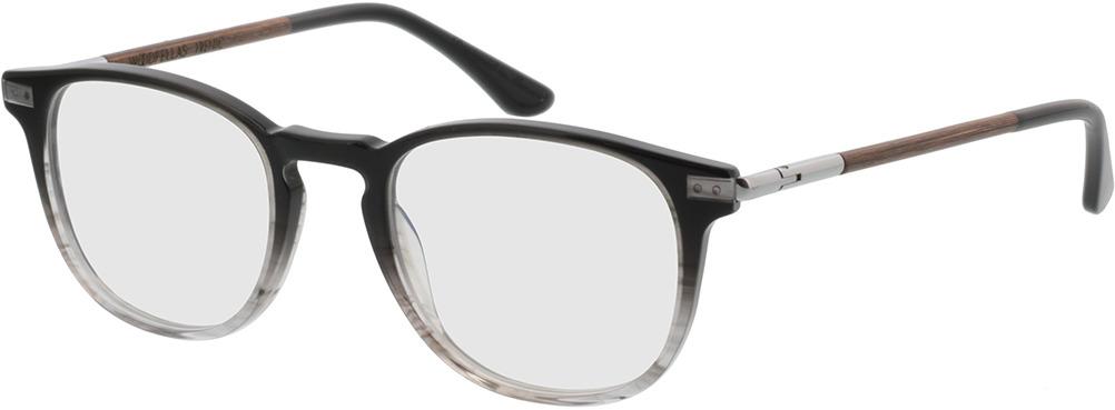 Picture of glasses model Wood Fellas Optical Irenic macassar/preto 49-21 in angle 330