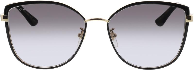 Picture of glasses model Gucci GG0589SK-001 57-16 in angle 0