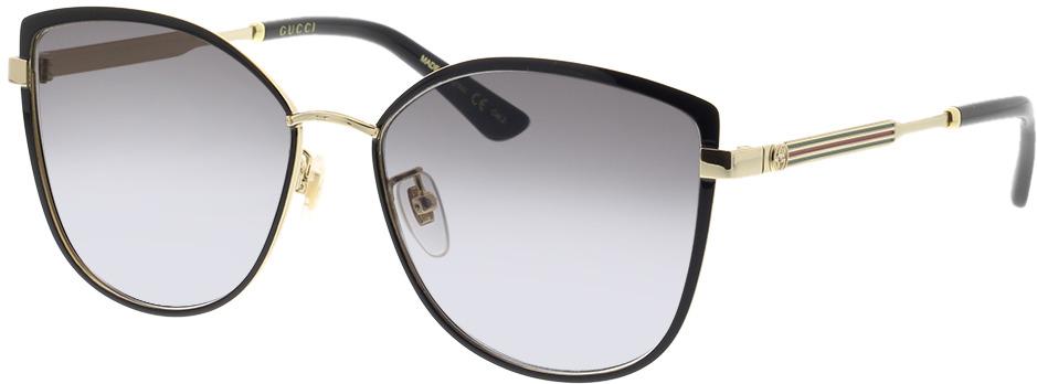 Picture of glasses model Gucci GG0589SK-001 57-16 in angle 330