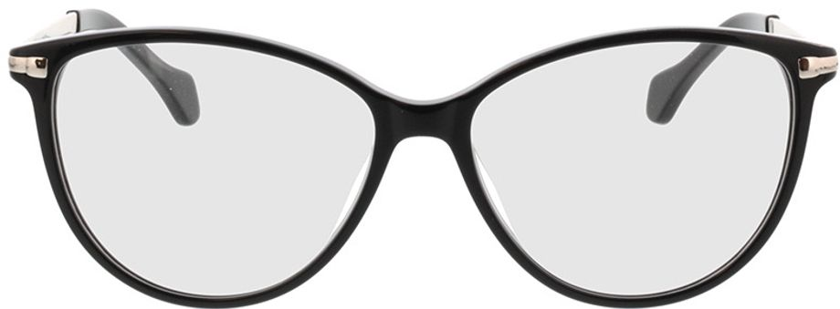 Picture of glasses model Eucla-schwarz/silber in angle 0