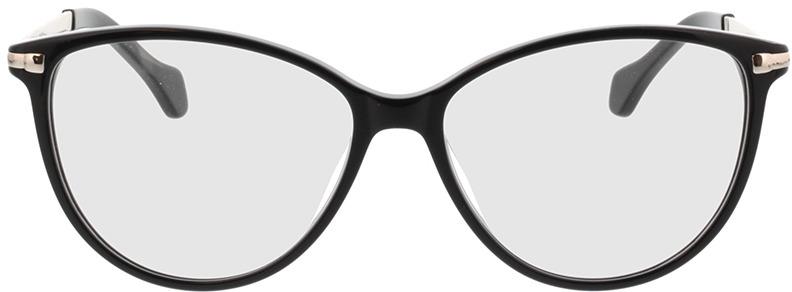 Picture of glasses model Eucla zwart/zilver in angle 0