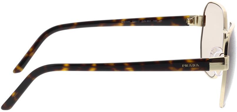 Picture of glasses model Prada PR 54XS ZVN6S1 59-17 in angle 90